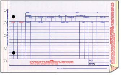 Parts Invoice - Imprinted - 500/package