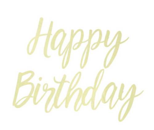 Happy Birthday Script Party Banner- Gold Foil
