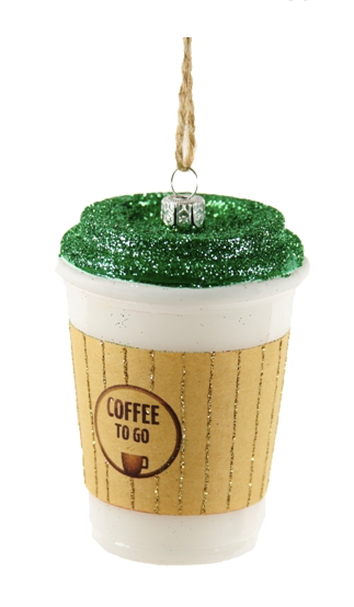 Coffee Christmas Ornament.Coffee To Go Ornament