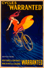 Cycles Warranted  Vintage Bicycle Poster