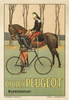 Peugeot Vintage Bicycle Poster Print