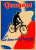 Peugeot Le beau vélo Français Bicycle Poster
