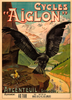 Cycles Aiglon Vintage Bicycle Poster Print