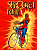 Sprocket Man Bicycle Super Hero Poster