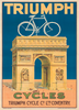 Triumph Cycles Vintage Bicycle Poster Print
