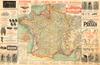 1911 Tour de France Map Poster