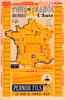1938 Tour de France Map Poster