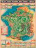1949 Tour de France Map Poster
