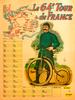 1977 Tour de France Map Poster