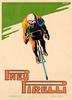 Pneu Pirelli Vintage Bicycle Poster Print