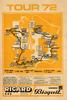 1972 Tour de France Vintage Map Poster designed so fans could follow the race