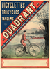 Bicyclettes Quadrant Vintage Bicycle Poster Prints