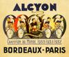 Alcyon - Bordeaux-Paris Bicycle Poster