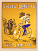 Cycles Lorette Bicycle Poster