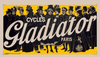 Cycles Gladiator Yellow Bicycle Poster