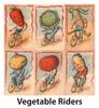 Vegetable Riders Vintage Bicycle Posters - Set of 6