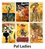 PAL Ladies Vintage Bicycle Posters - Set of 6