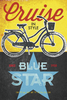 Blue Star Bicycles Poster by John Evans