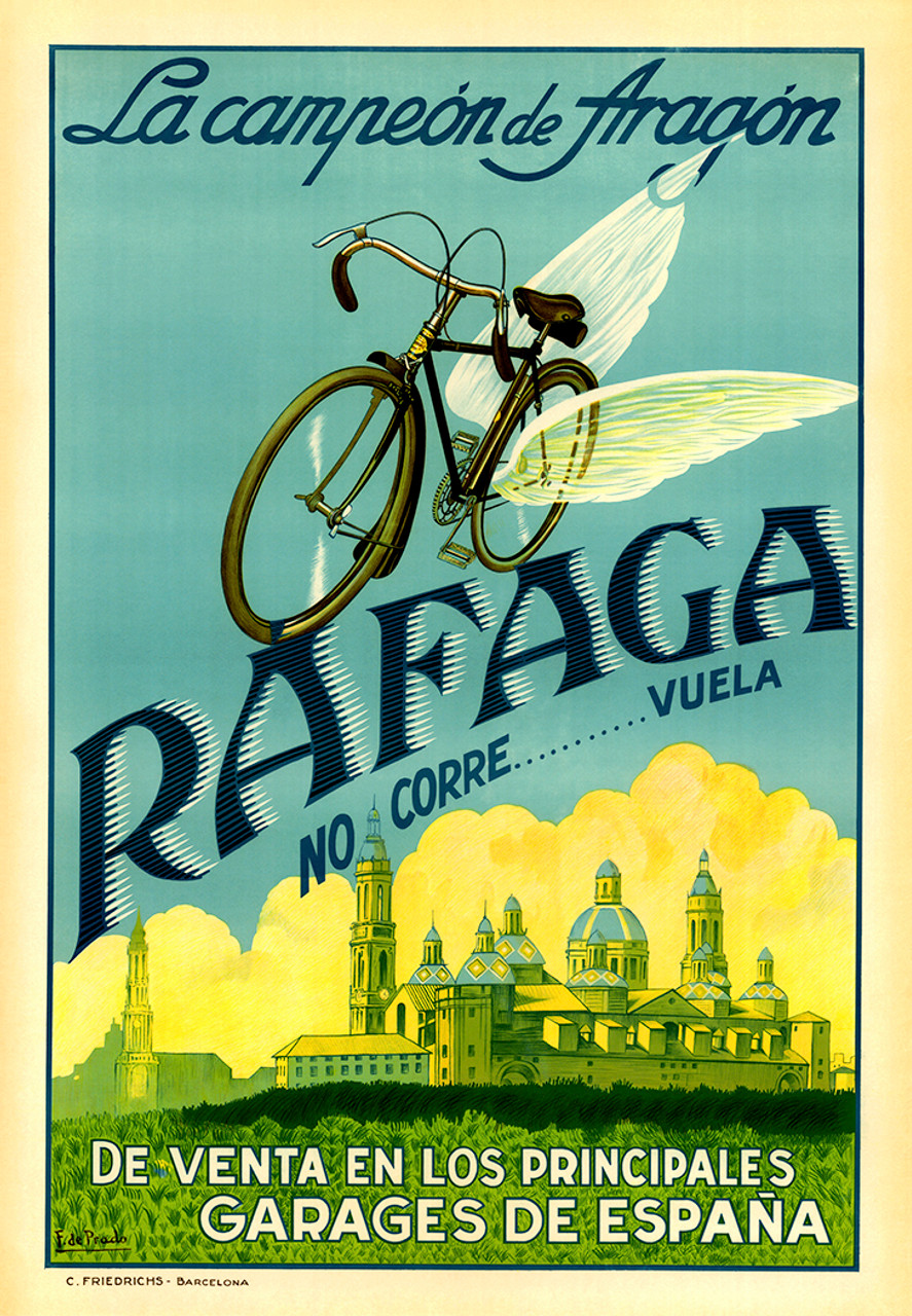 Rafaga Bicycle Poster