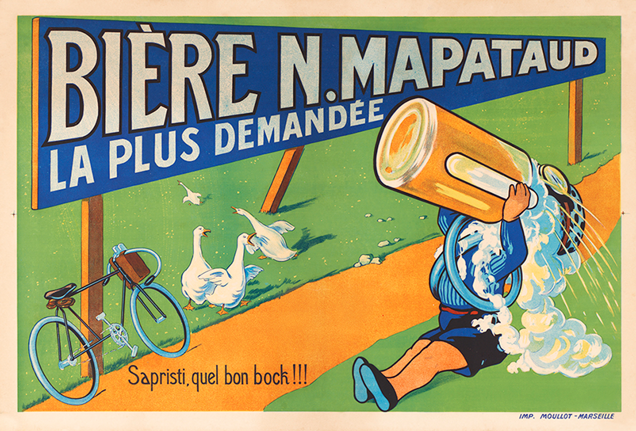 Biere N. Mapataud Bicycle Poster