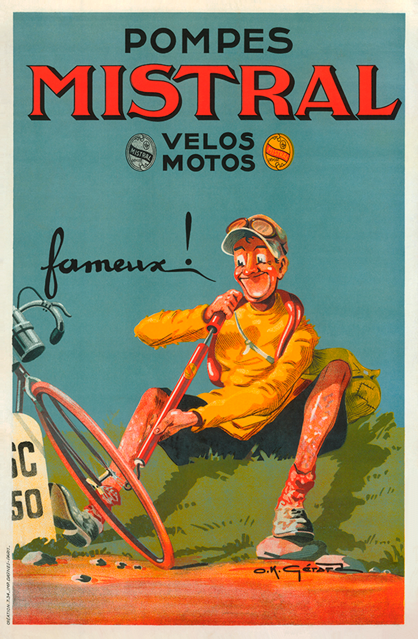 Pompes Mistral Bicycle Poster