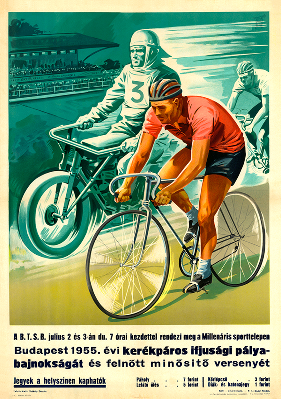 Youth Cup Track Cycling Bicycle Poster