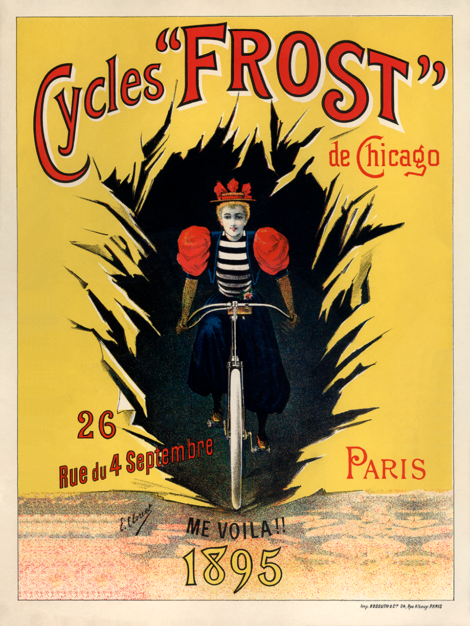 Frost De Chicago Bicycle Poster