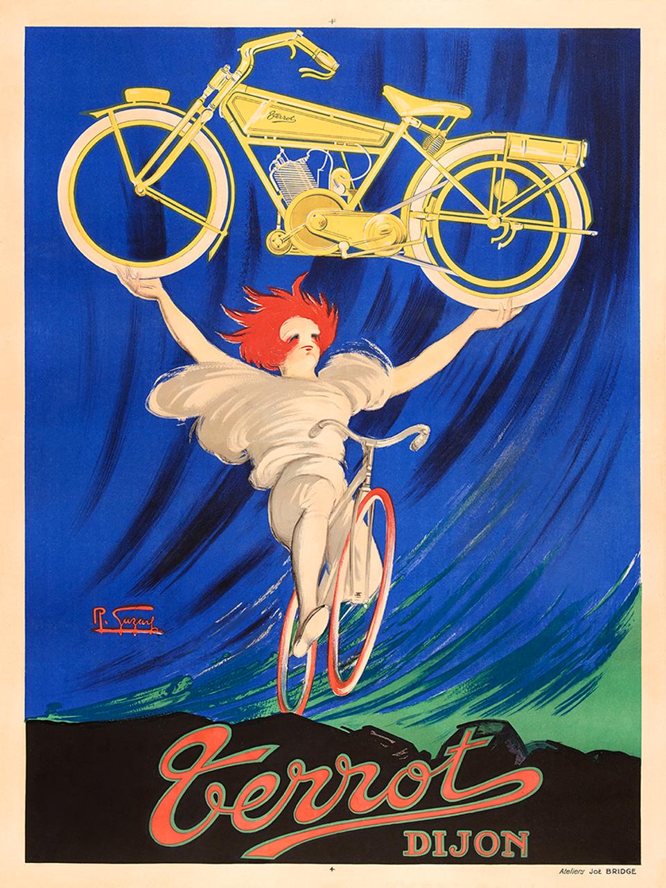 Terror Dijon Vintage Bicycle Poster by Gazay