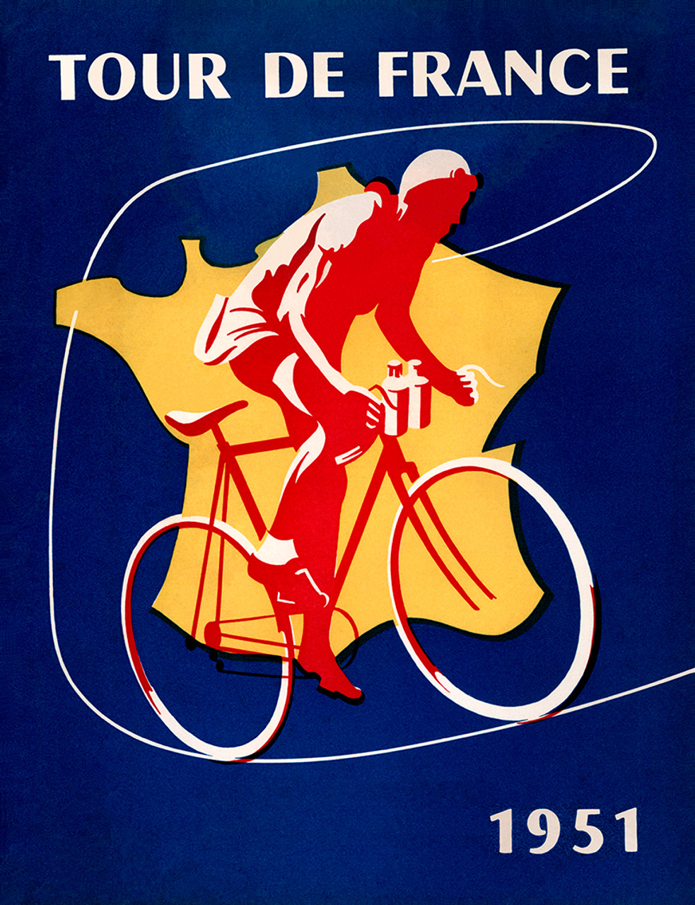 1951 Tour De France Bicycle Poster