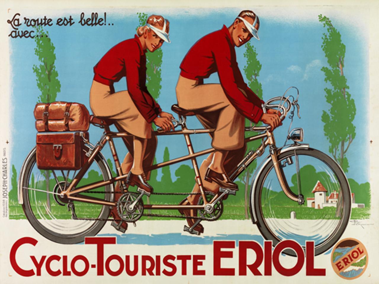 Cyclo-Touriste EROL Tandem Bicycle Poster