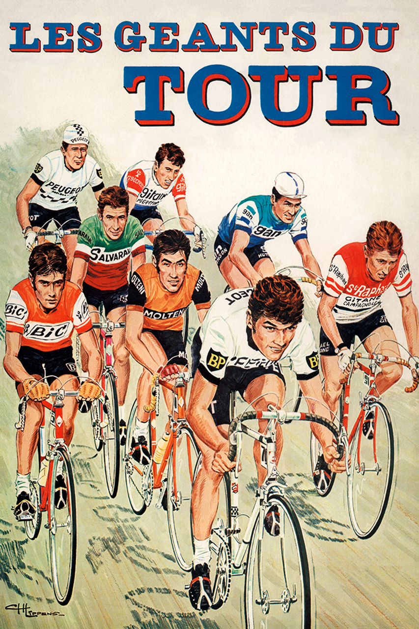 The Giants of the Tour - Les Geants Du Tour - Bicycle Poster