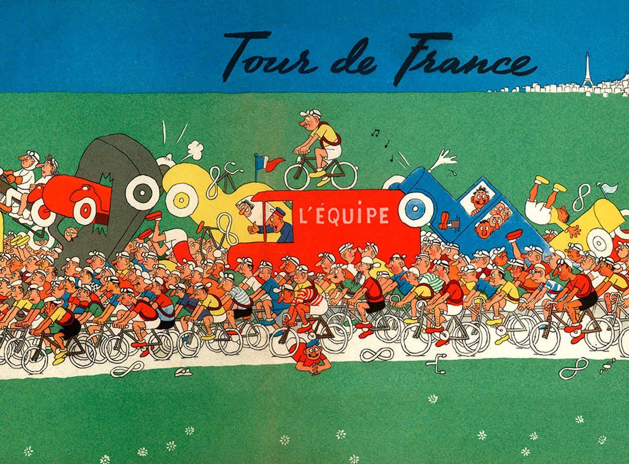 The Grande Boucle - The Tour De France Bicycle Poster