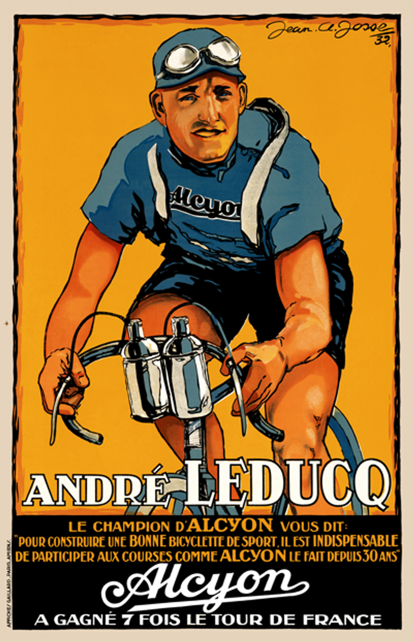 Andre Leducq - Alcyon Bicycle Poster