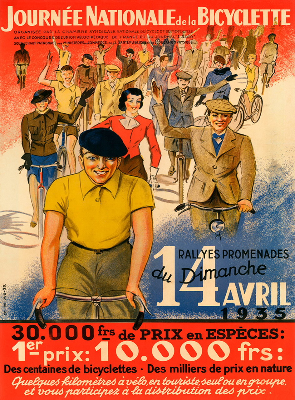 Journee Nationale Bicyclette Bicycle Poster