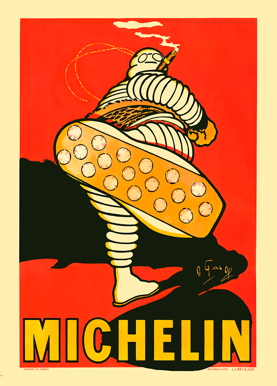 Michelin Bibendum French Bicycle Poster by O'Gallop