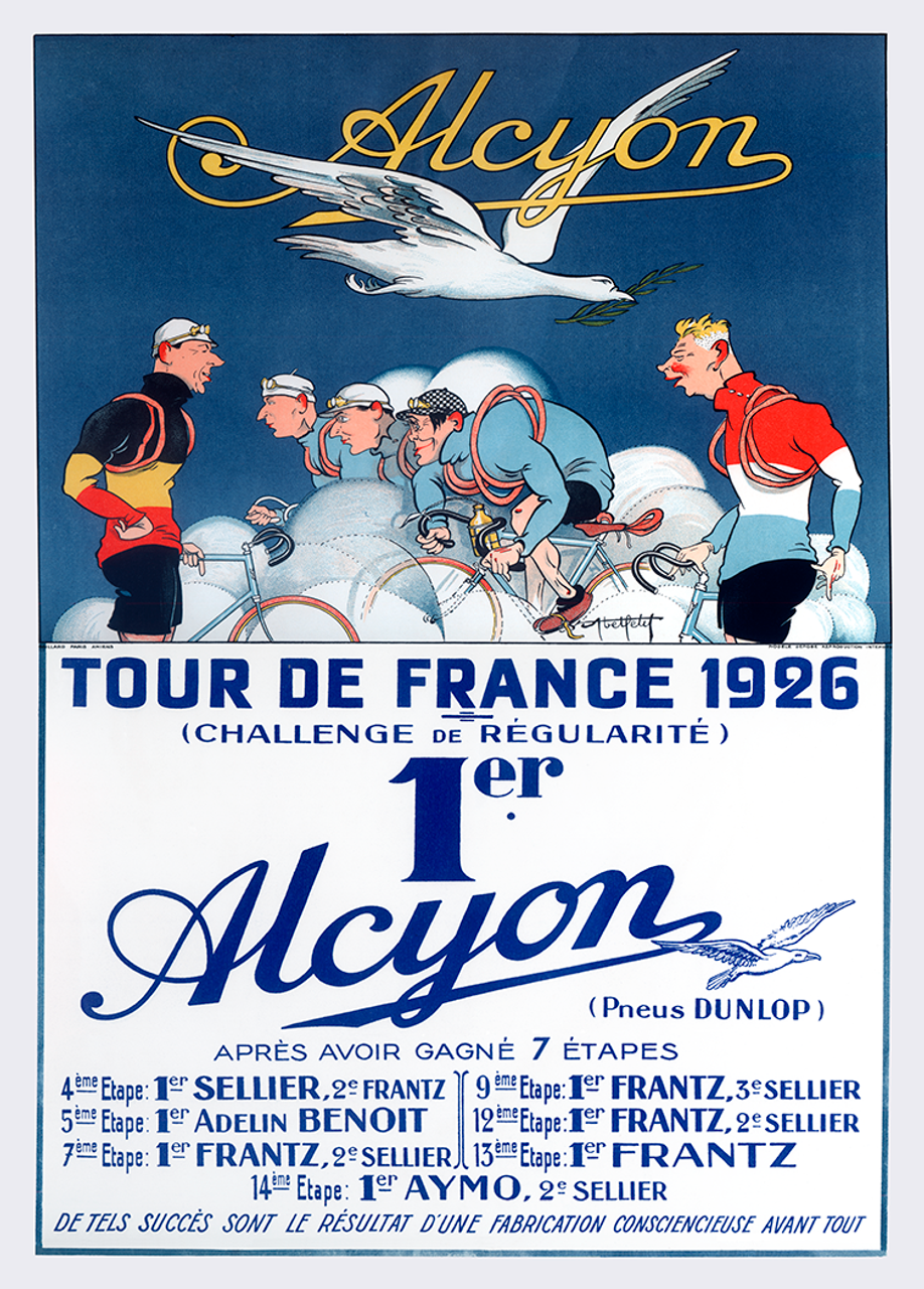 Alcyon Tour de France 1926 Bicycle Poster Print
