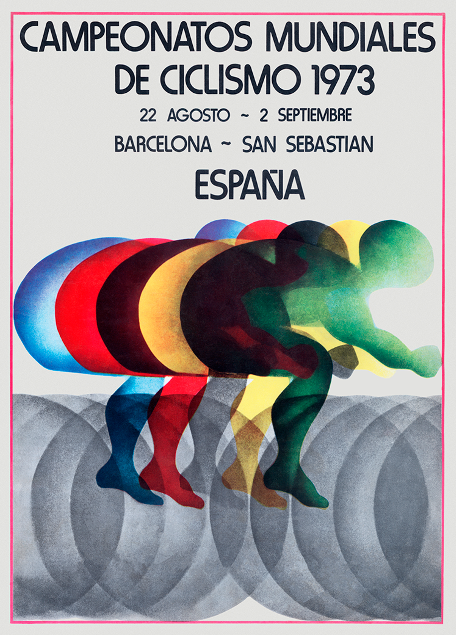 1973 World Cycling Championships Bicycle Poster Print