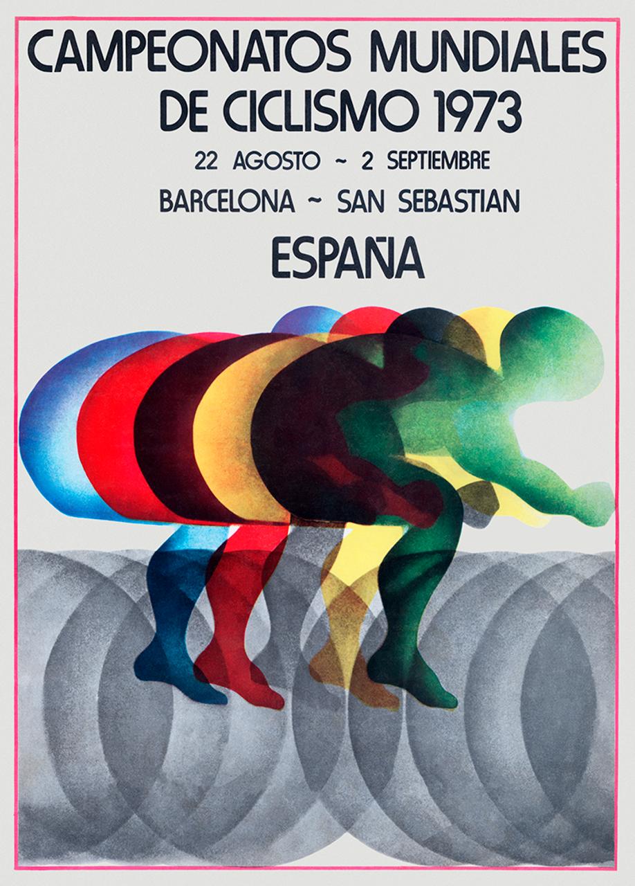 1973 World Cycling Championships Bicycle Poster Print