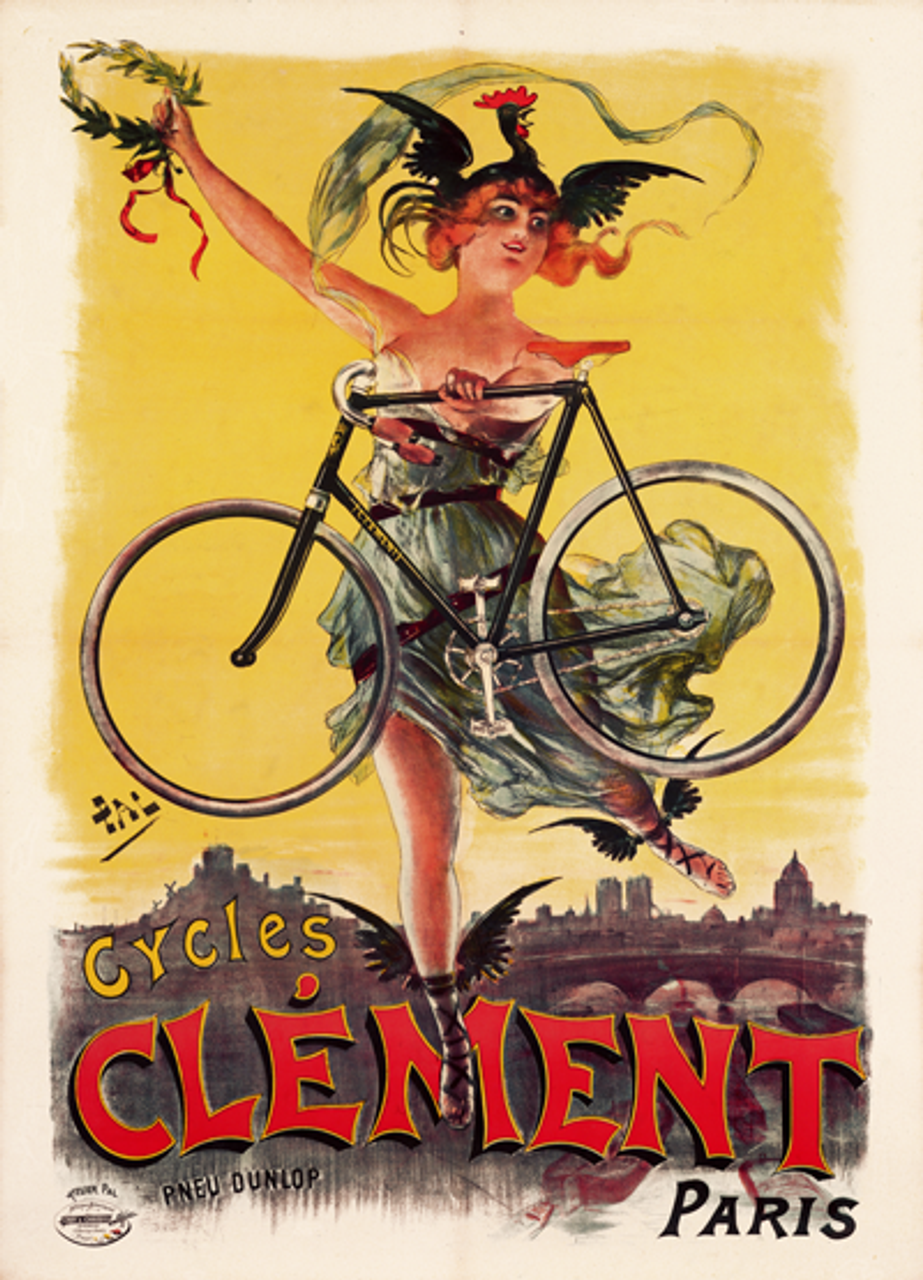 Cycles Clement Paris Bicycle Poster