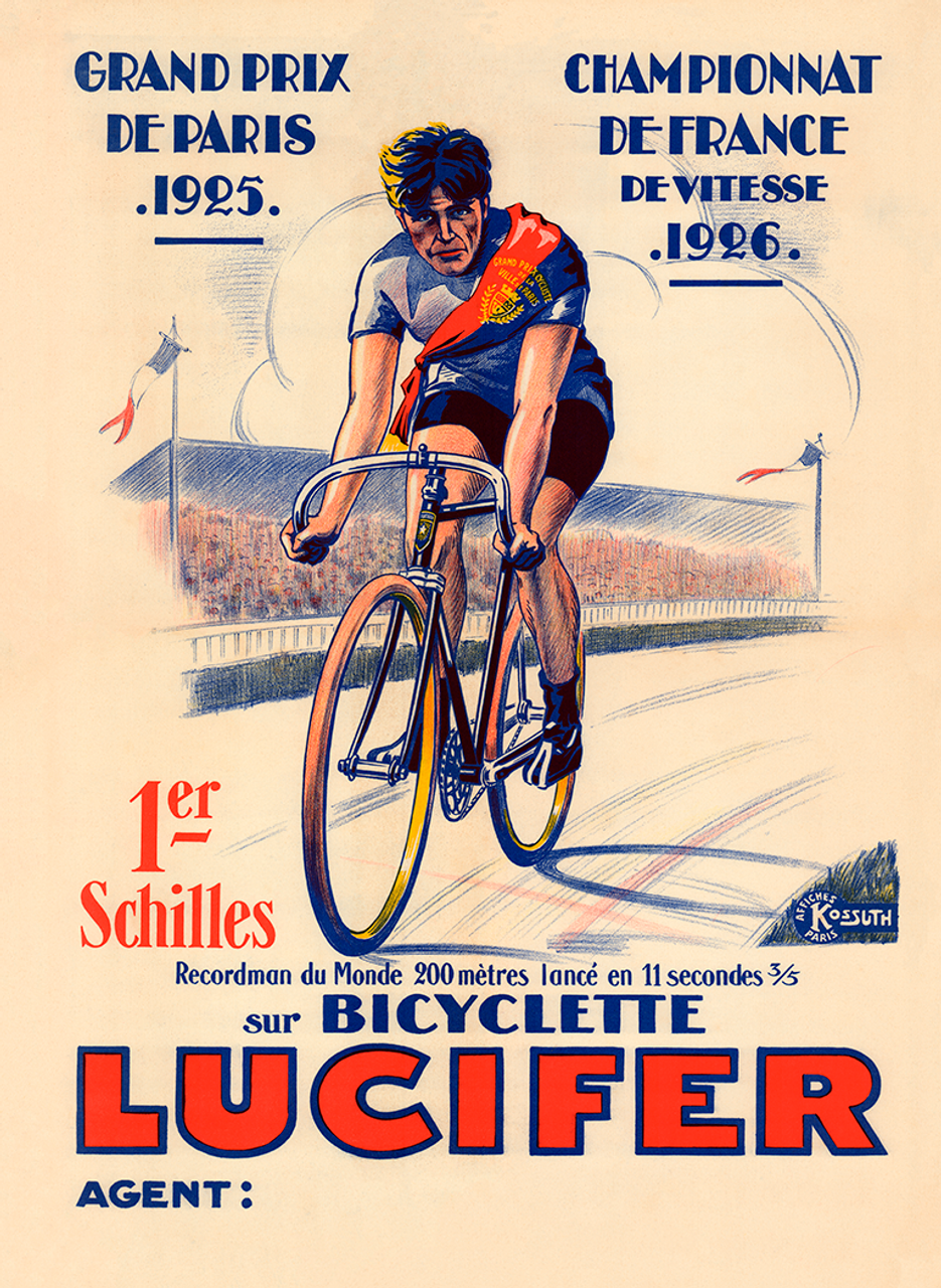Bicyclette Lucifer World Record Bicycle Poster