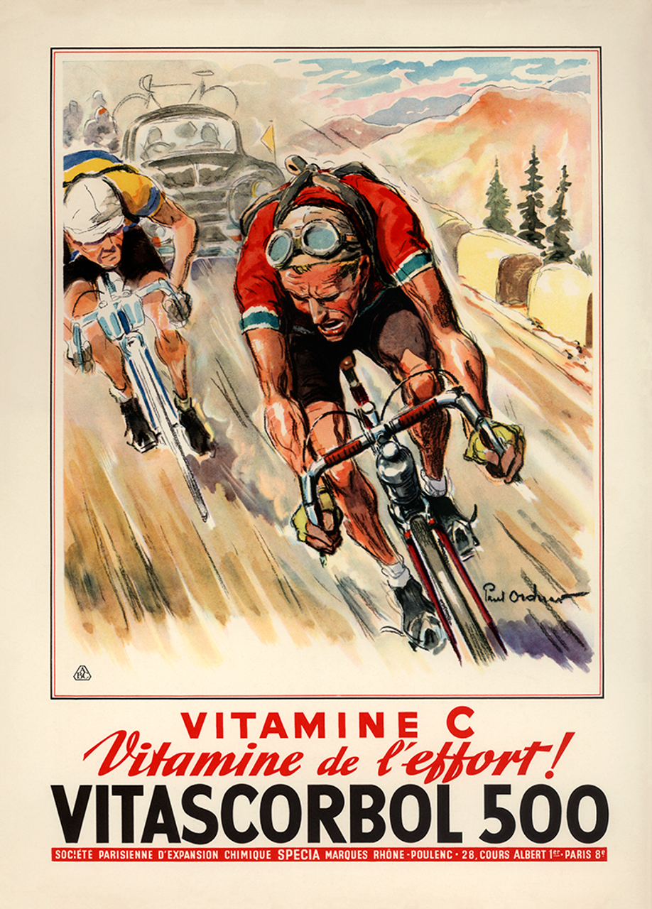 Vitascorbal 500 Bicycle poster by Paul Ordner from 1960