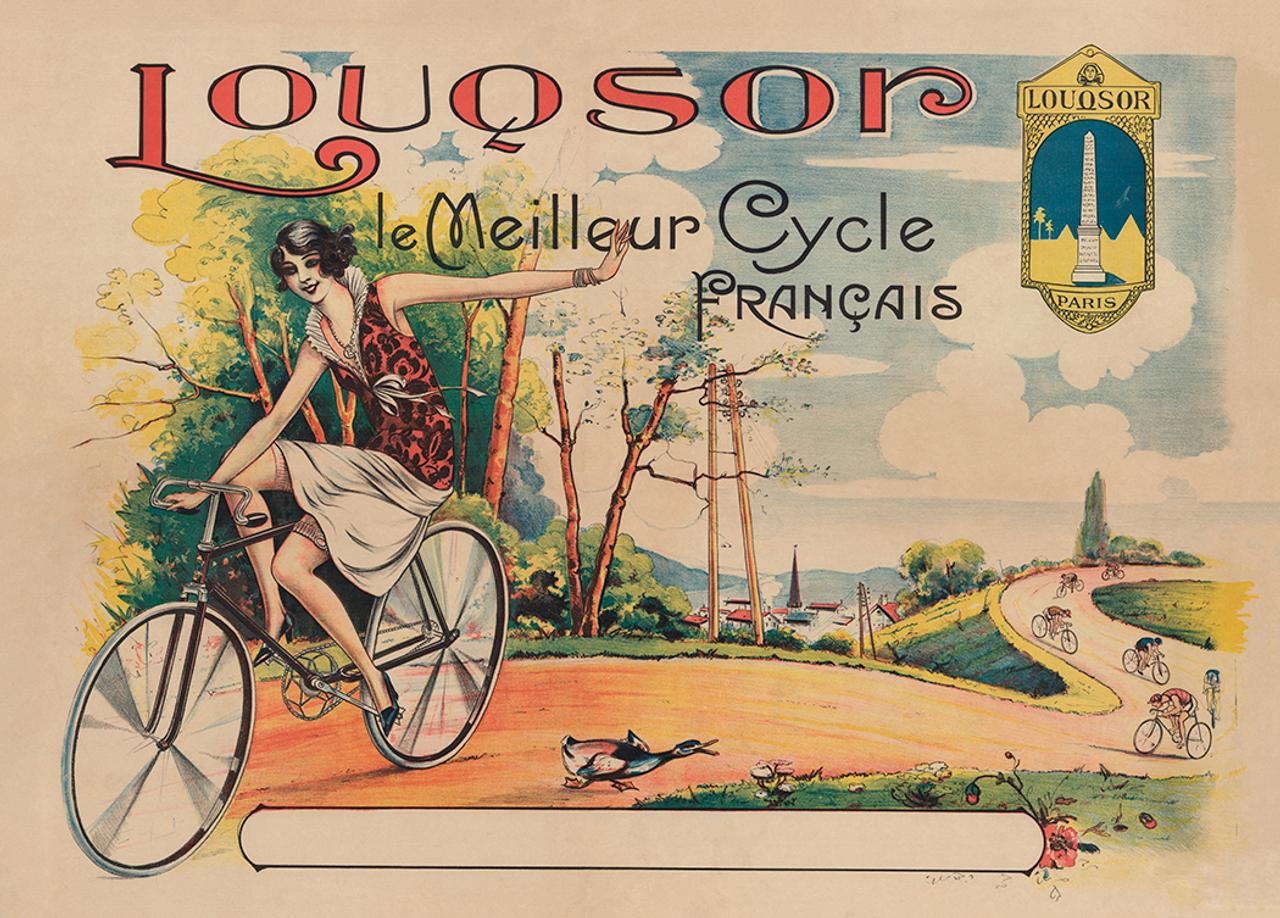 Louqsor Le Meilleur Cycle Vintage Bicycle Poster