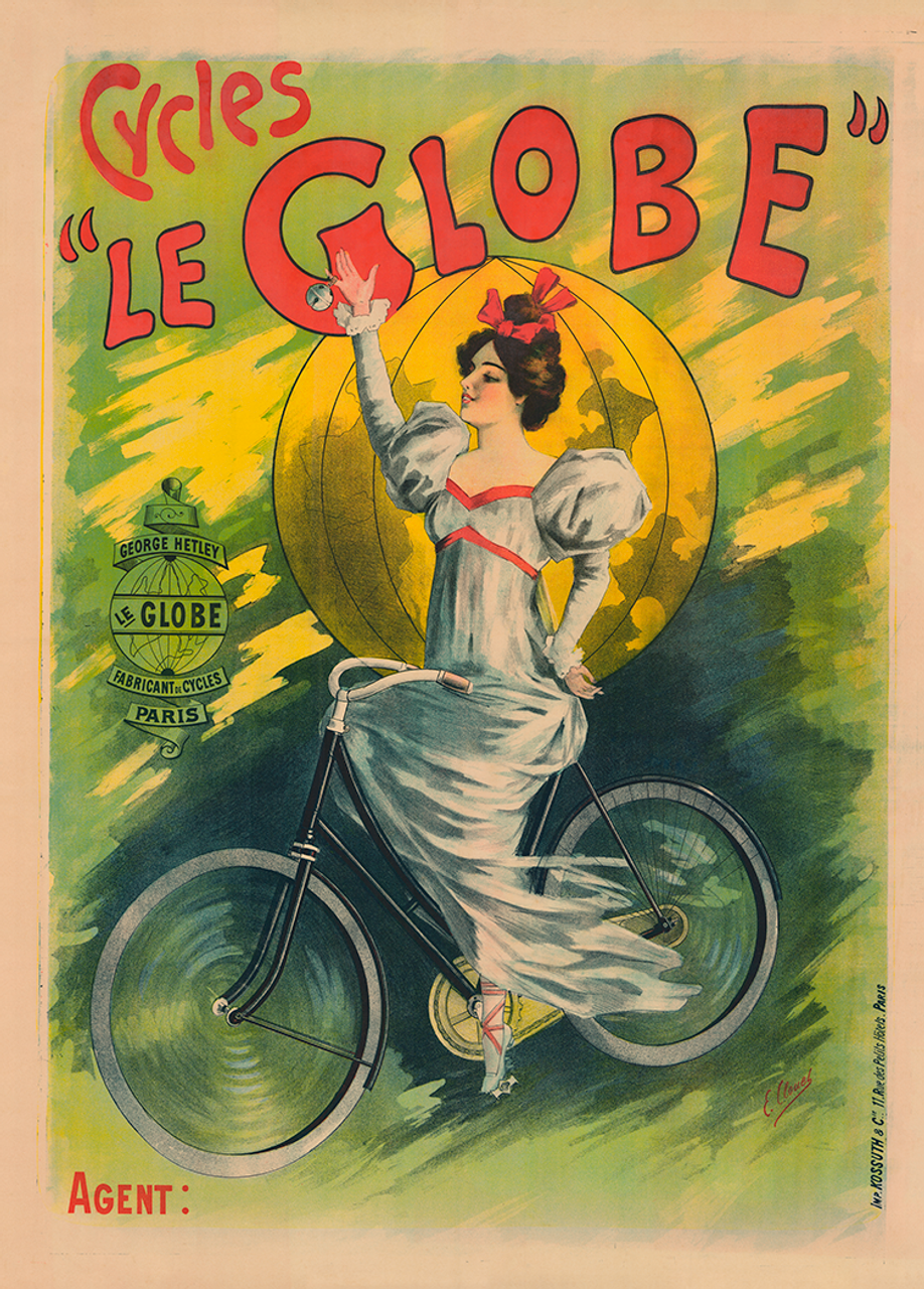 Cycles Le Globe Vintage Bicycle Poster for George Hetley Cycles