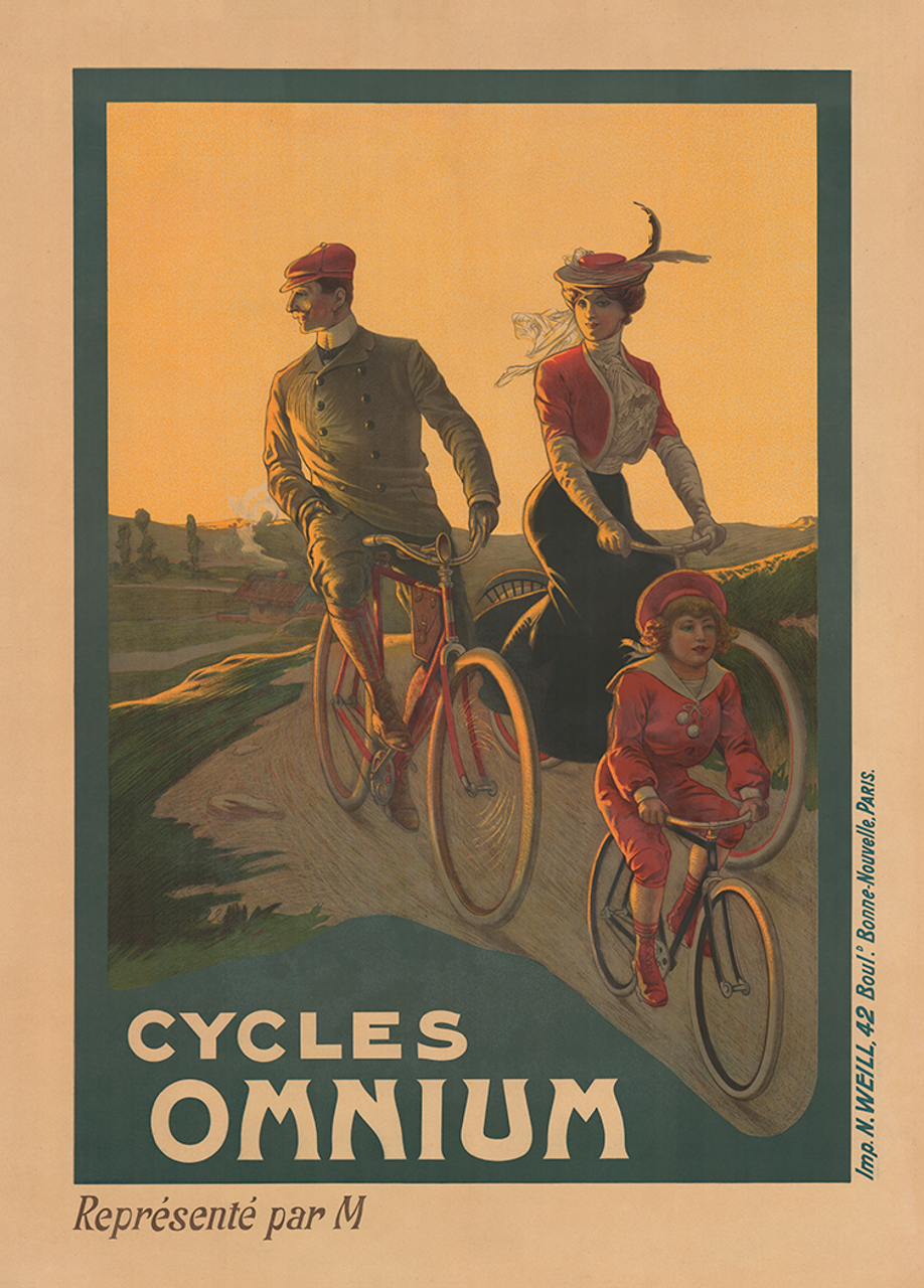 Cycles Omnium Vintage Bicycle Poster Print