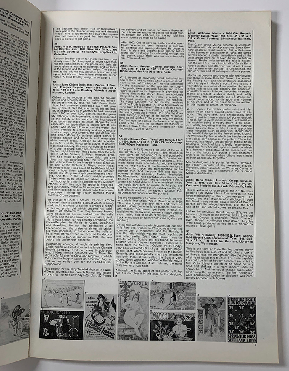 100 Years of Bicycle Posters - Poster Description Page