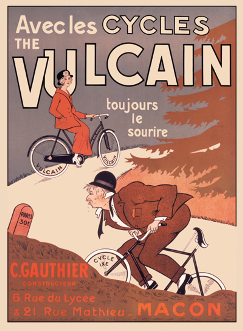 Cycles Vulcain Bicycle Poster