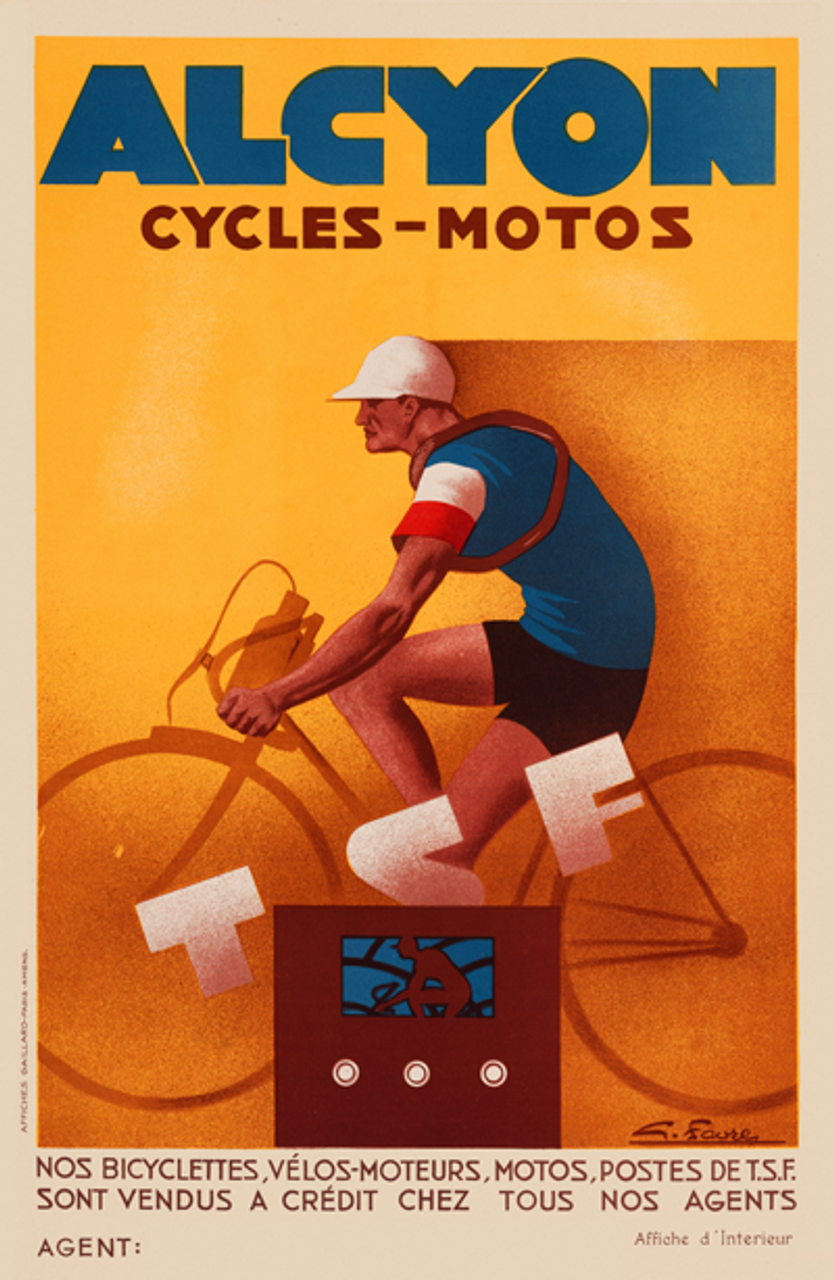 Alcyon Cycles-Motos Bicycle Poster