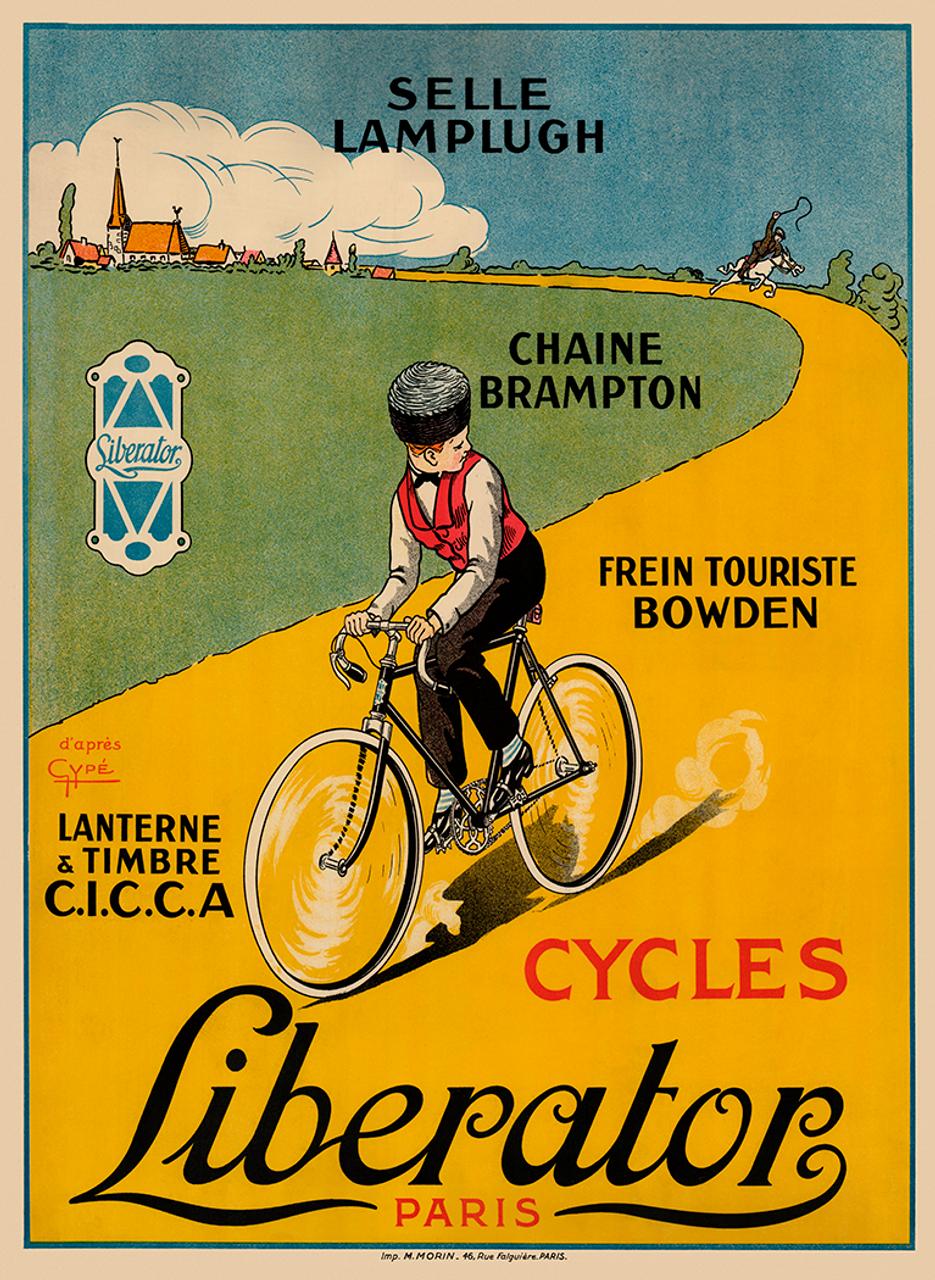 Cycles Liberator Paris Vintage Bicycle Poster Prints by Gype