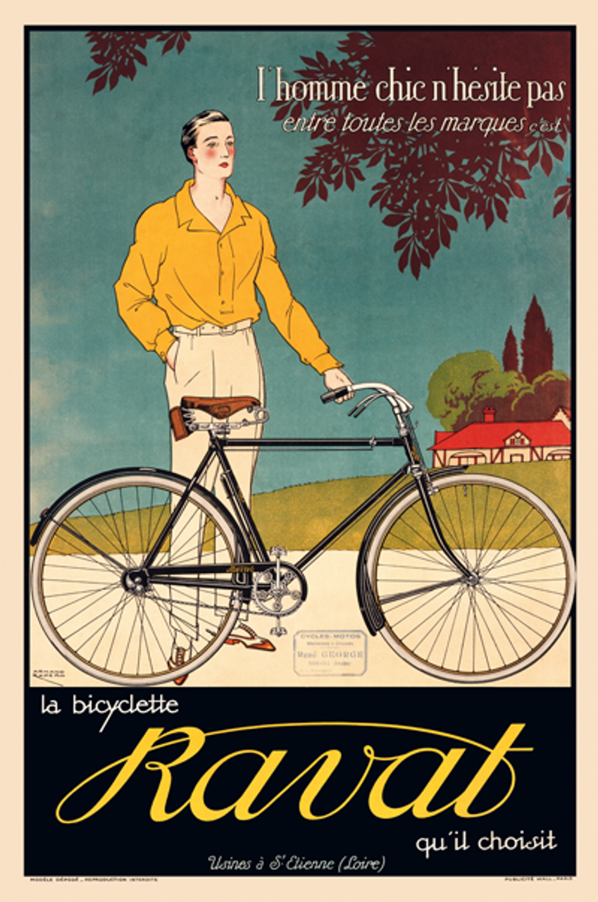 La Bicyclette Ravat Poster