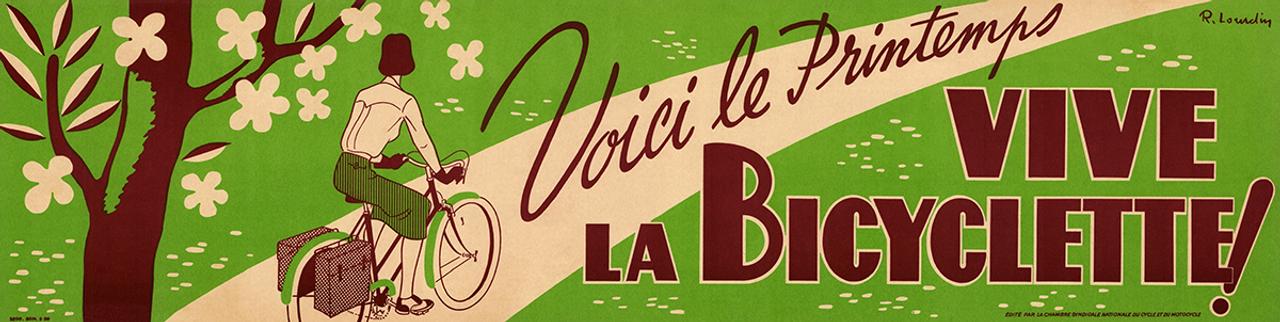 Vive La Bicyclette Vintage Poster Prints